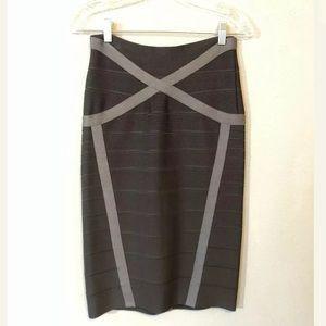 Herve Leger High Waisted Skirt
